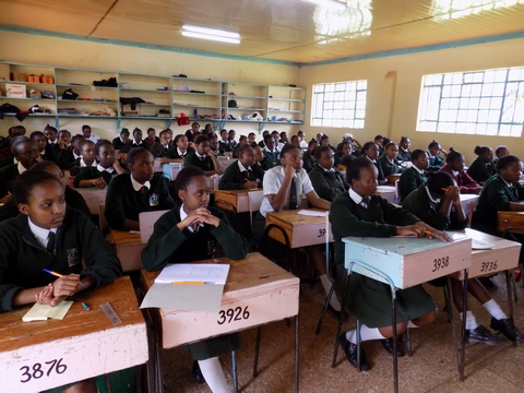 Students following keenly on motivation talks