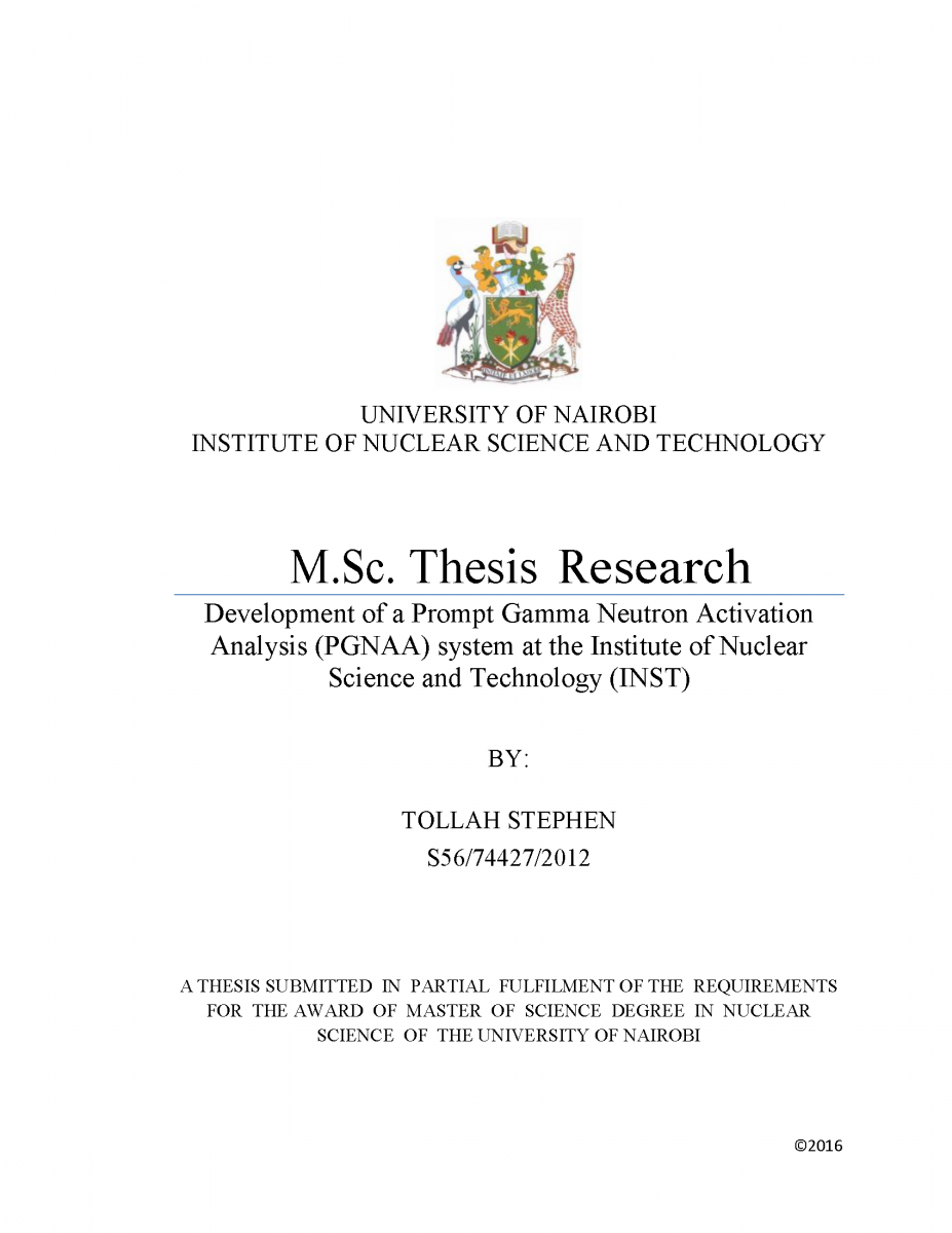 Science education masters thesis